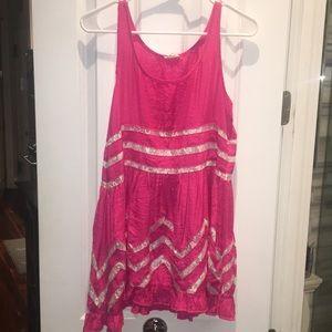 Pink Tea & Cup sun dress